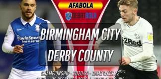 Prediksi Birmingham City vs Derby County 30 Desember 2020