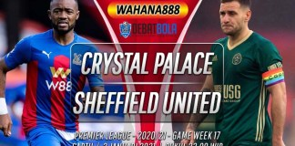 Prediksi Crystal Palace vs Sheffield United 2 Januari 2021