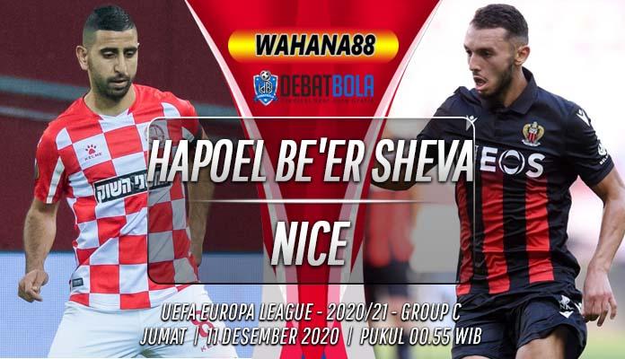 Prediksi Hapoel Be'er Sheva vs Nice 11 Desember 2020