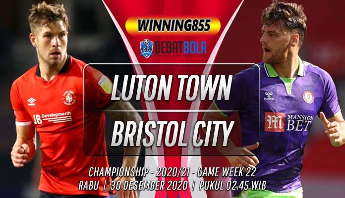 Prediksi Luton Town vs Bristol City 30 Desember 2020