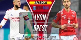 Prediksi Lyon vs Brest 17 Desember 2020