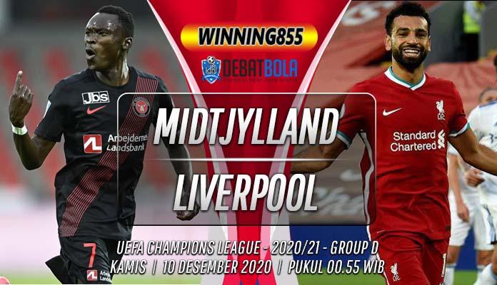Prediksi Midtjylland vs Liverpool 10 Desember 2020