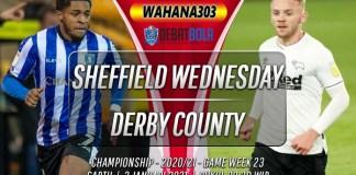 Prediksi Sheffield Wednesday vs Derby County 2 Januari 2021