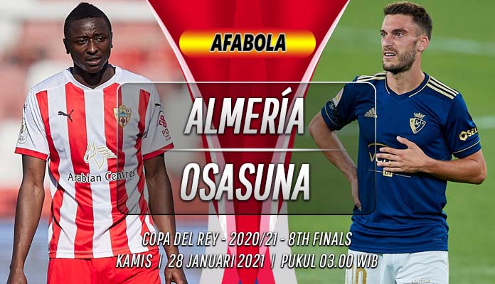 Prediksi Almería vs Osasuna 28 Januari 2021