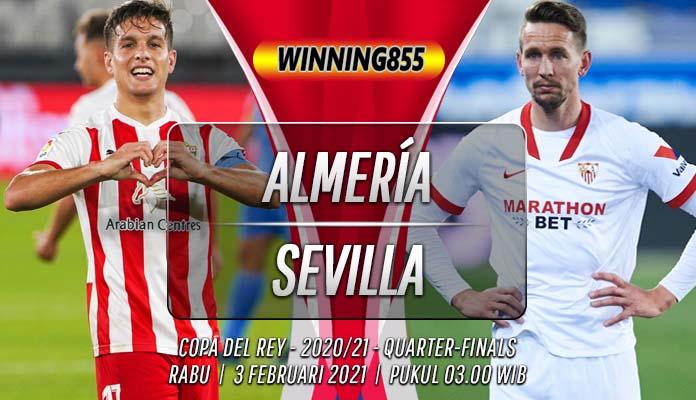 Prediksi Almería vs Sevilla 3 Februari 2021