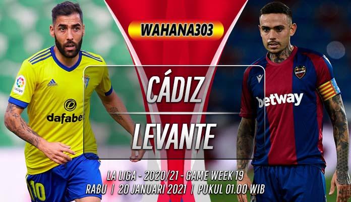 Prediksi Cádiz vs Levante 20 Januari 2021