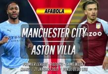Prediksi Manchester City vs Aston Villa 21 Januari 2021