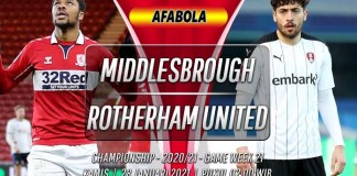 Prediksi Middlesbrough vs Rotherham United 28 Januari 2021