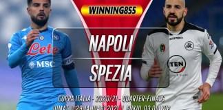 Prediksi Napoli vs Spezia 29 Januari 2021