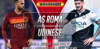 Prediksi AS Roma vs Udinese 14 Februari 2021