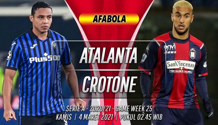Prediksi Atalanta vs Crotone 4 Maret 2021