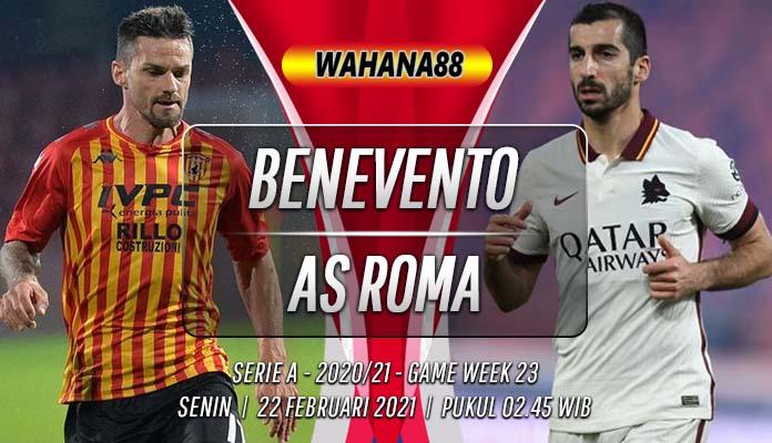 Prediksi Benevento vs AS Roma 22 Februari 2021