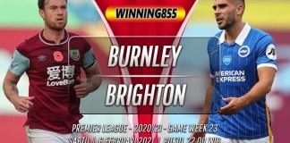 Prediksi Burnley vs Brighton 6 Februari 2021