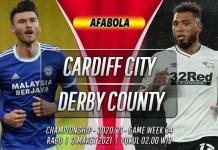 Prediksi Cardiff City vs Derby County 3 Maret 2021