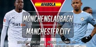 Prediksi Monchengladbach vs Manchester City 25 Februari 2021