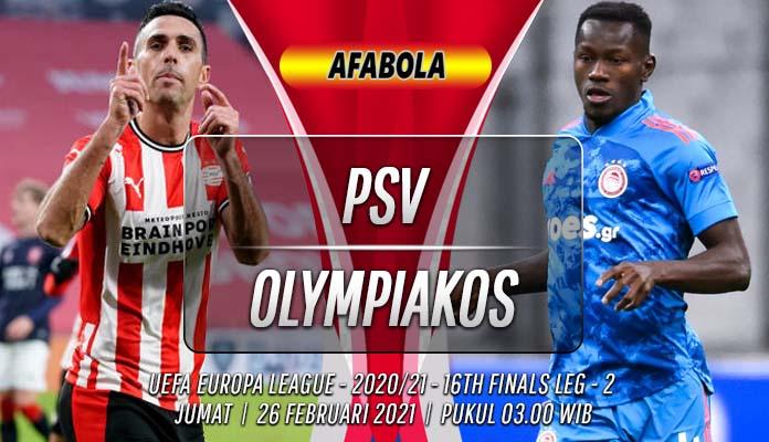 Prediksi PSV vs Olympiakos 26 Februari 2021