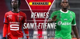 Prediksi Rennes vs Saint-Etienne 14 Februari 2021