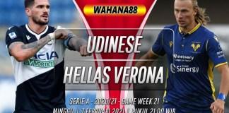 Prediksi Udinese vs Hellas Verona 7 Februari 2021