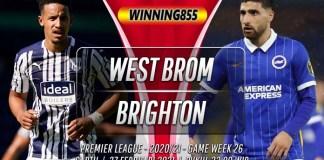 Prediksi West Brom vs Brighton 27 Februari 2021