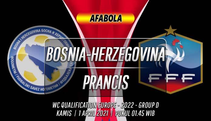 Prediksi Bosnia-Herzegovina vs Prancis 1 April 2021