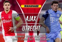 Prediksi Ajax vs Utrecht 22 April 2021