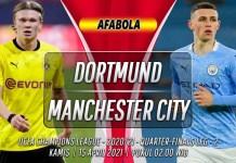 Prediksi Borussia Dortmund vs Manchester City 15 April 2021