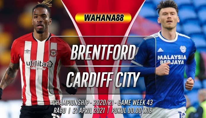 Prediksi Brentford vs Cardiff City 21 April 2021