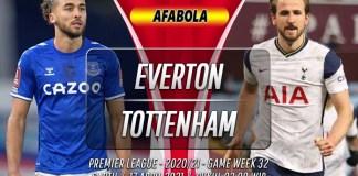 Prediksi Everton vs Tottenham Hotspur 17 April 2021