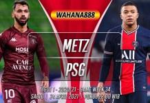 Prediksi Metz vs PSG 24 April 2021
