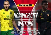 Prediksi Norwich City vs Watford 21 April 2021