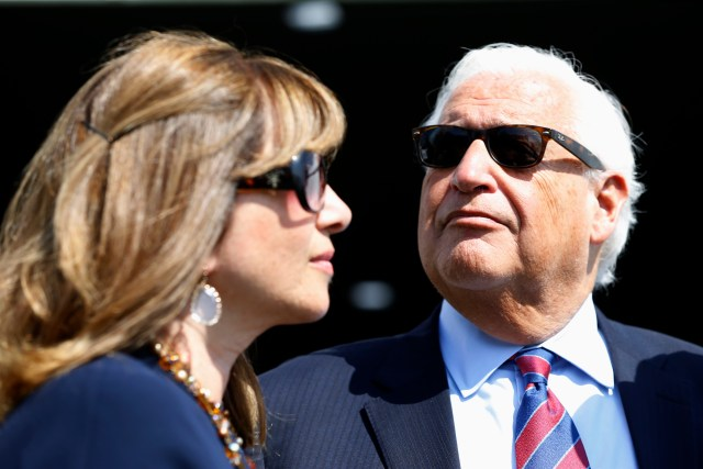 United States Ambassador to Israel David Friedman and his wife, Tammy, attend the inauguration of a new settlement named after U.S. president Donald Trump in the Golan Heights, June 16, 2019.