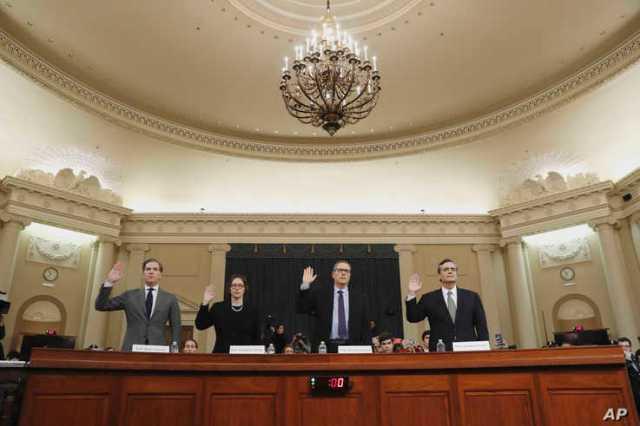 Constitutional law experts, from left, Harvard Law School professor Noah Feldman, Stanford Law School professor Pamela Karlan