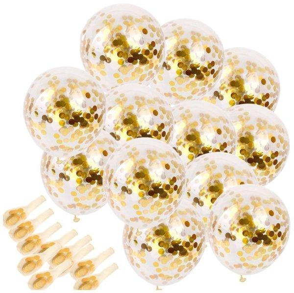 Globos confeti dorados