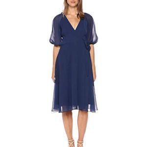 vestido azul chifon para bautizo