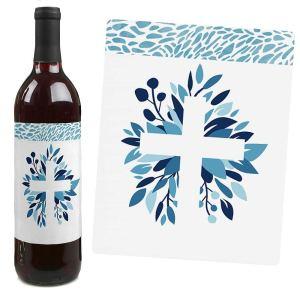 etiquetas para botellas fiesta bautizo