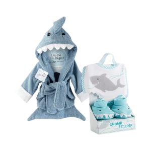 bata de baño de tiburon para bebe