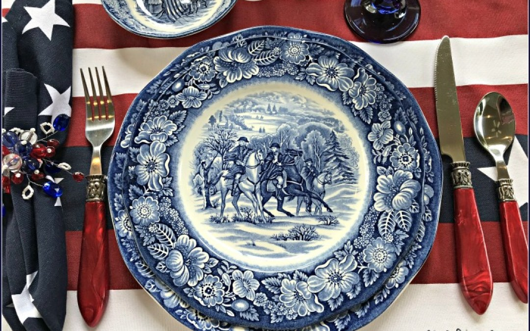 give-me-liberty-blue-tablescape-red-white-blue-tablescape-valley-forge-plate