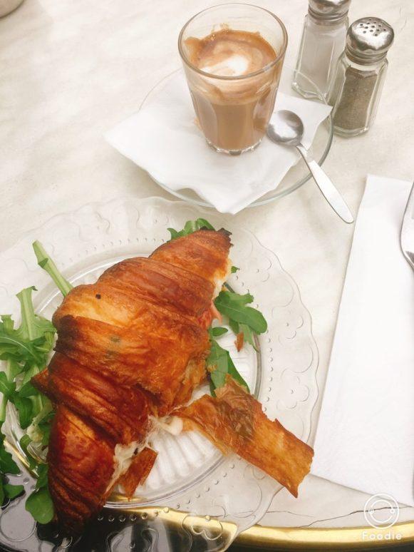 Cafe Bezaelel - Jerusalem - Not Kosher - Gouda Croissant