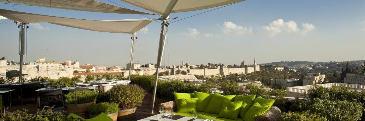 Rooftop Restaurant-Mamilla Hotel - Old City View