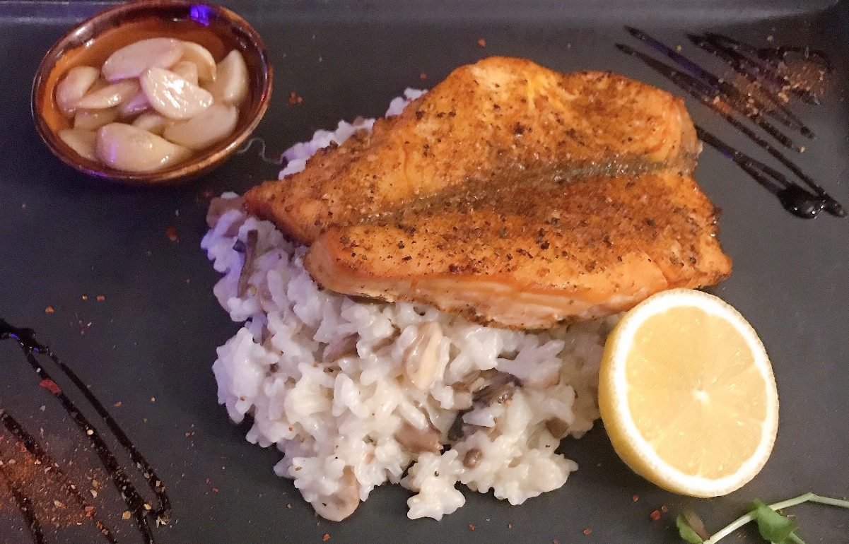 Salmon with Risotto - Ratatui - Moshav Emunim - Kosher