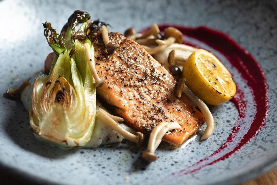 Baked Salmon - Hashmonaim 99 By Charlie Fadida - Kosher restaurant - Tel Aviv
