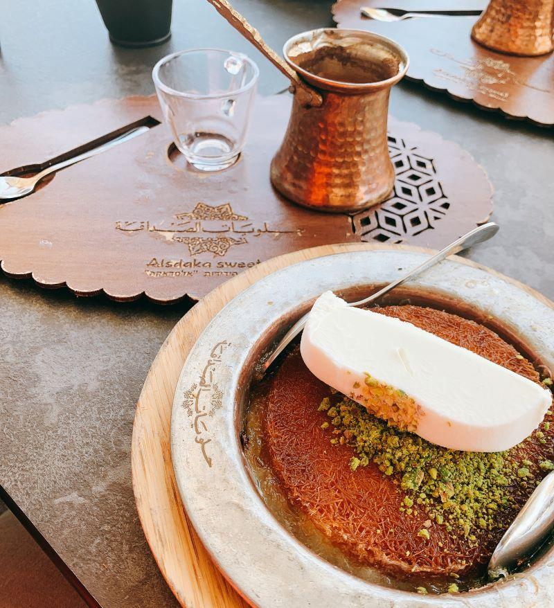 Al Sadaka Sweets - Nazareth - Knafe with Turkish Ice Cream