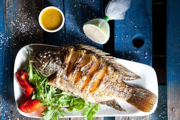 Ein Gev Fish Restaurant - Kinneret - Kosher - Grilled St Peter's Fish