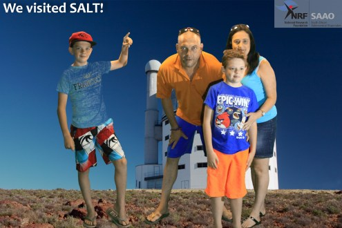 Our family in front of SALT