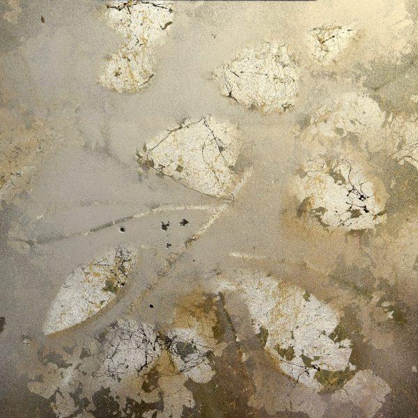 Winter Puddle verre eglamise art by Debbie Dion Hayes