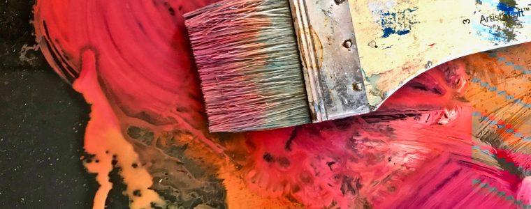 Golden Paintworks acrylics palette