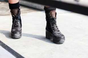Random girl with an LV shoes