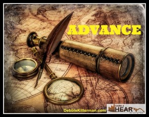 Advance-Oneword vintage map
