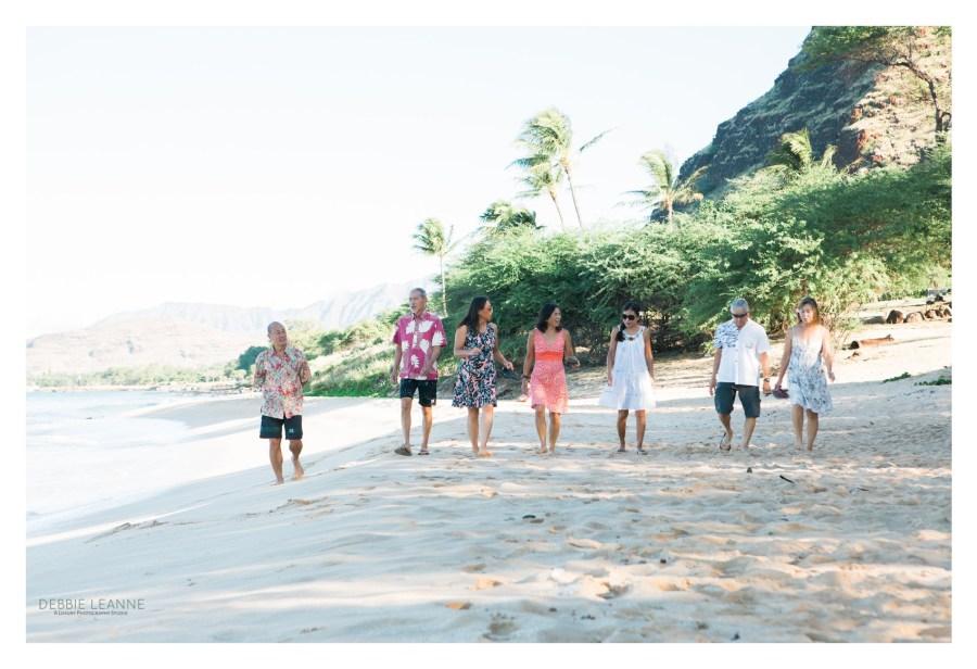 friends walking down the beach