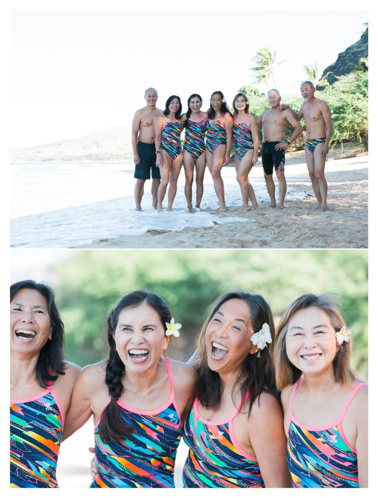 friends on the beach laughing
